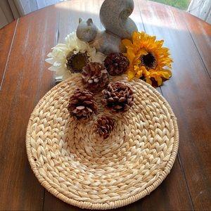Wicker Straw Woven Decorative Plate